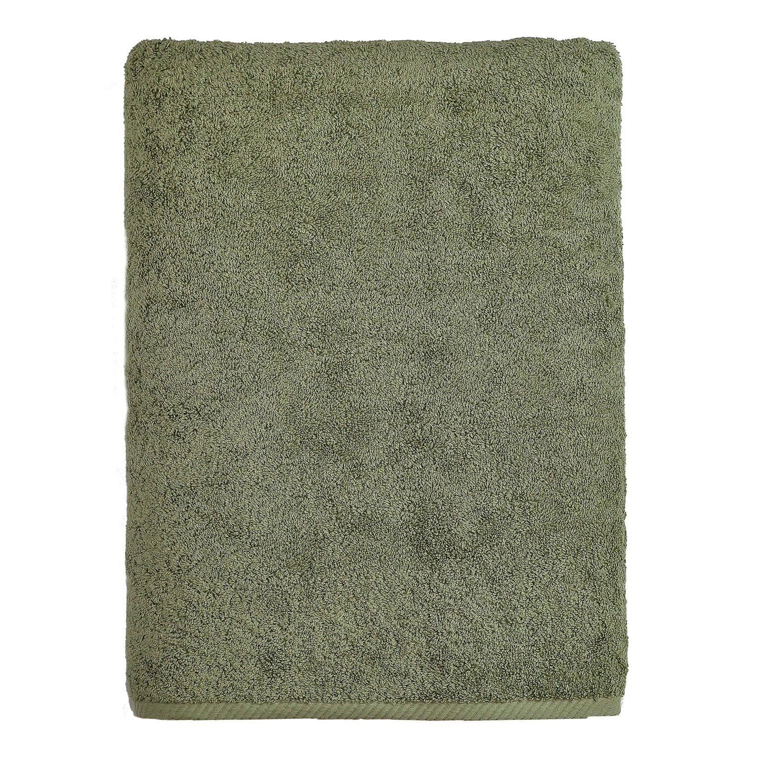 Linum Home Textiles Soft Twist Premium Authentic Soft 100% Turkish Cotton Luxury Hotel Collection Bath Sheet, Light Olive