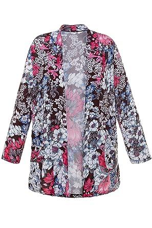 1dbc6918c86 Ulla Popken Women s Plus Size Open Front Jersey Jacket 702482 at Amazon  Women s Coats Shop
