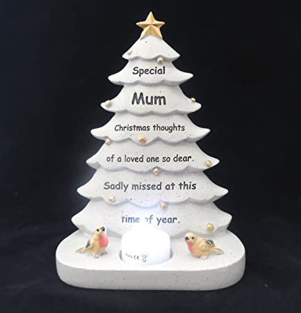 memorial christmas tree with special message a loved one graveside memorial or christmas decoration at - Christmas Decorations In Memory Of A Loved One