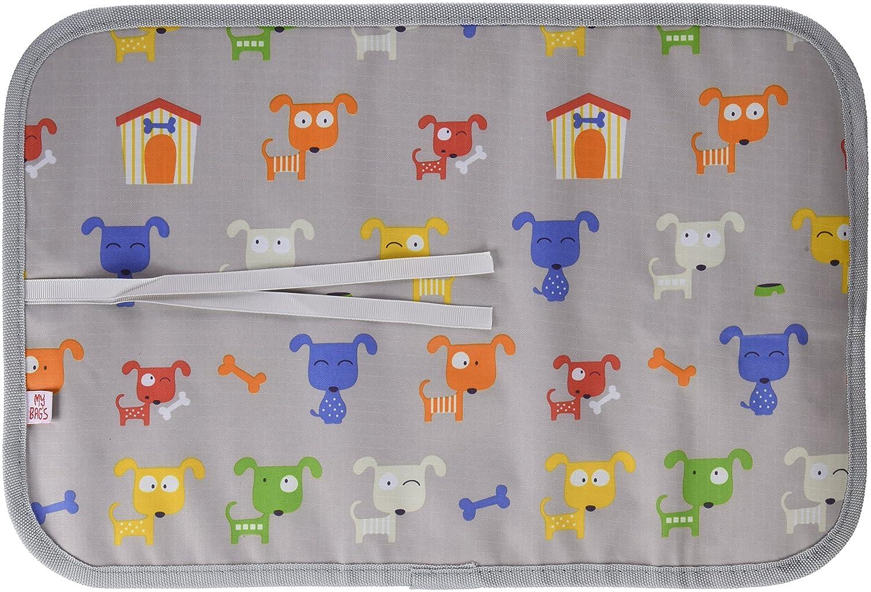 My Bags Dgdoggre - Pizarra de tela enrollable perritos, gris: Amazon.es: Bebé