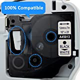 3 Pack Compatible DYMO D1 45013 S0720530 Label Tape Cassette 12mm Black on White Tape for DYMO LabelManager 160, LabelManager 210D Label Printer, 1/2 Inch x 23 Feet