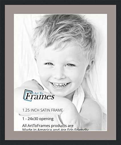 Amazon.com - ArtToFrames 24 x 30 Inch Opening Single Mat with a ...