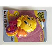 Looney Tunes Tweedy Bird Rattle With Rings (Colors Vary) (Pink Star Ring)