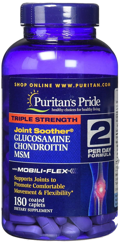 ピューリタンズプライド(Puritan's Pride) トリプルストレングス グルコサミン コンドロイチン MSM カプレット B004R691BW