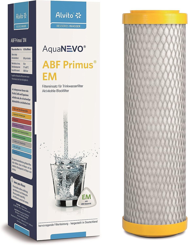 Alvito Wasserfilter ABF Primus CLC Aktivkohle Blockfilter mit Kalkschutz