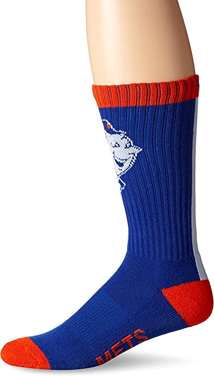 PKWY Unisex 3-Pack Mets Baseball Team Crew Socks