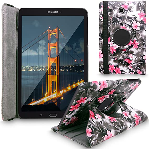 best service 18702 9a6a5 Galaxy Tab E 9.6 Case, Cellularvilla Premium Pu Leather 360 Degree Rotating  Cover Swivel Stand Case For Samsung Galaxy Tab E Wi-Fi / Tab E Nook / Tab  ...