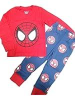 綿100%男の子パジャマ上下セット スパイダーマン柄長袖