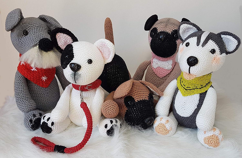 Crochet pug pattern amigurumi dog stuffed animal pattern | Etsy | 979x1500