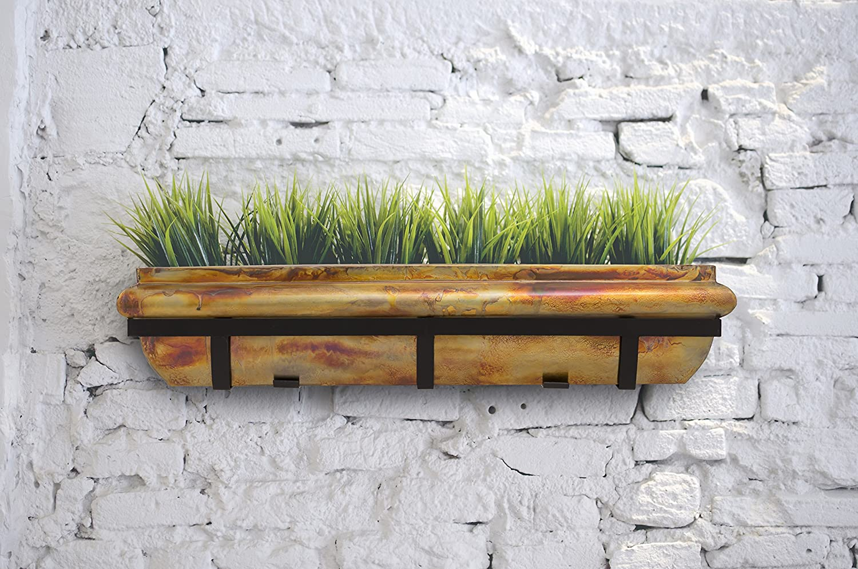 H Potter Rustic Copper Window Planter Box Garden Decor Flower 30