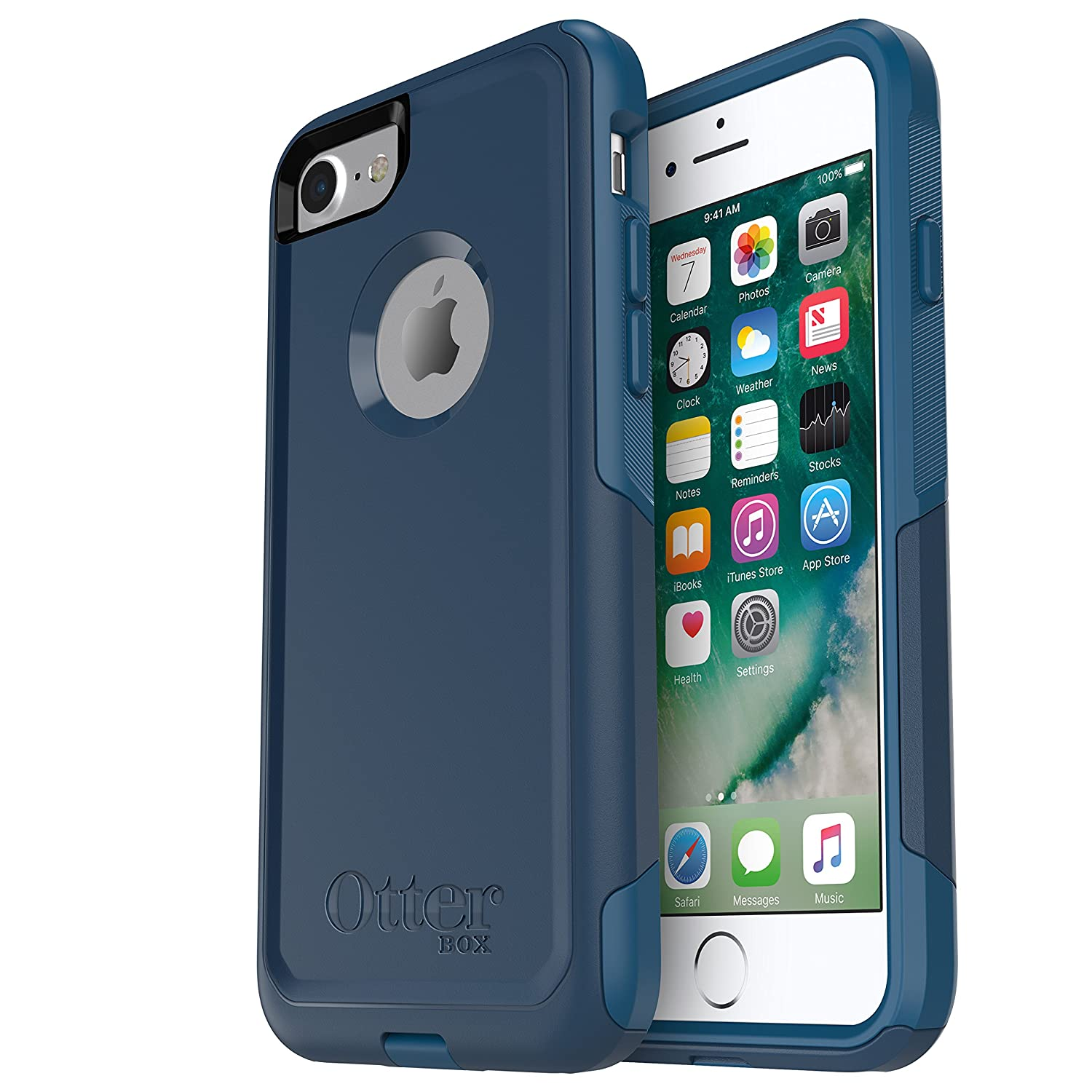 Amazon.com: Otterbox 77-54033 Commuter Series Case for iPhone 8 & iPhone 7  (NOT Plus) - Frustration Free Packaging - Bespoke Way (Blazer Blue/Stormy  SEAS ...