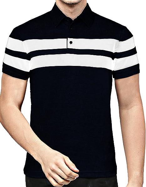 7a5d5a4cbfaf8 EYEBOGLER Regular Fit Men s Cotton T-Shirt (M-T46HS1-BLWH