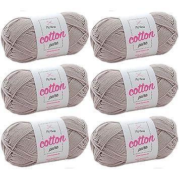 Beige Baumwolle Zum Häkeln Myoma Cotton Pure Bast Fb 0171