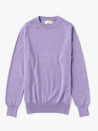 Cotton Crewneck Sweater 1113-343-4154: Lilac