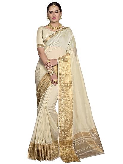 857d72ed21d0c9 Pisara Women Chanderi Silk Saree With Blouse Piece