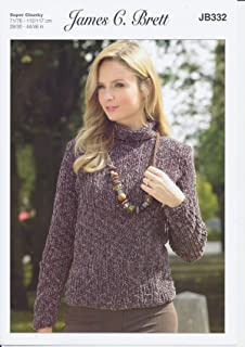c3bd8558a3ad7 James C Brett JB332 Knitting Pattern Ladies Sweater and Hat in Flutterby  Animal Prints Super Chunky