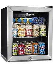 Subcold Super50 LED – Mini Fridge Black   50L Beer, Wine & Drinks Fridge   LED Light + Lock and Key   Low Energy A+ (Stainless Steel)