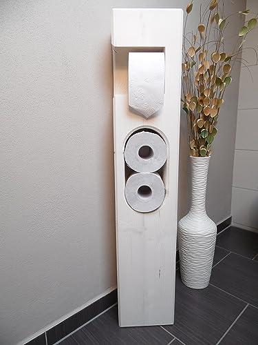 Gut gemocht Toilettenpapierhalter Holz weiß: Amazon.de: Handmade VY91