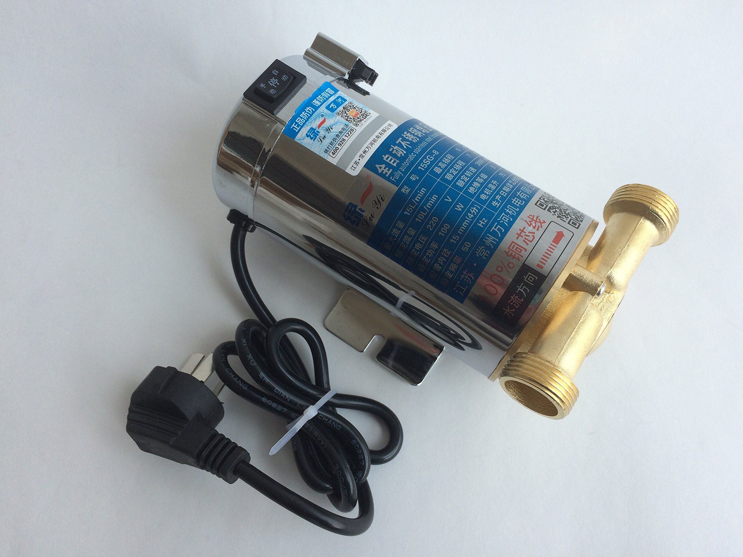 100W 10L/Min 220V 3000RPM Automatic Stainless Steel Gas Hot Water Heater Pressure Booster Pump