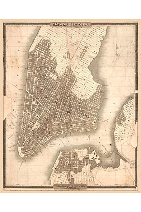 New York Map 1800.Amazon Com History Prints Map Of Lower Manhattan New York City