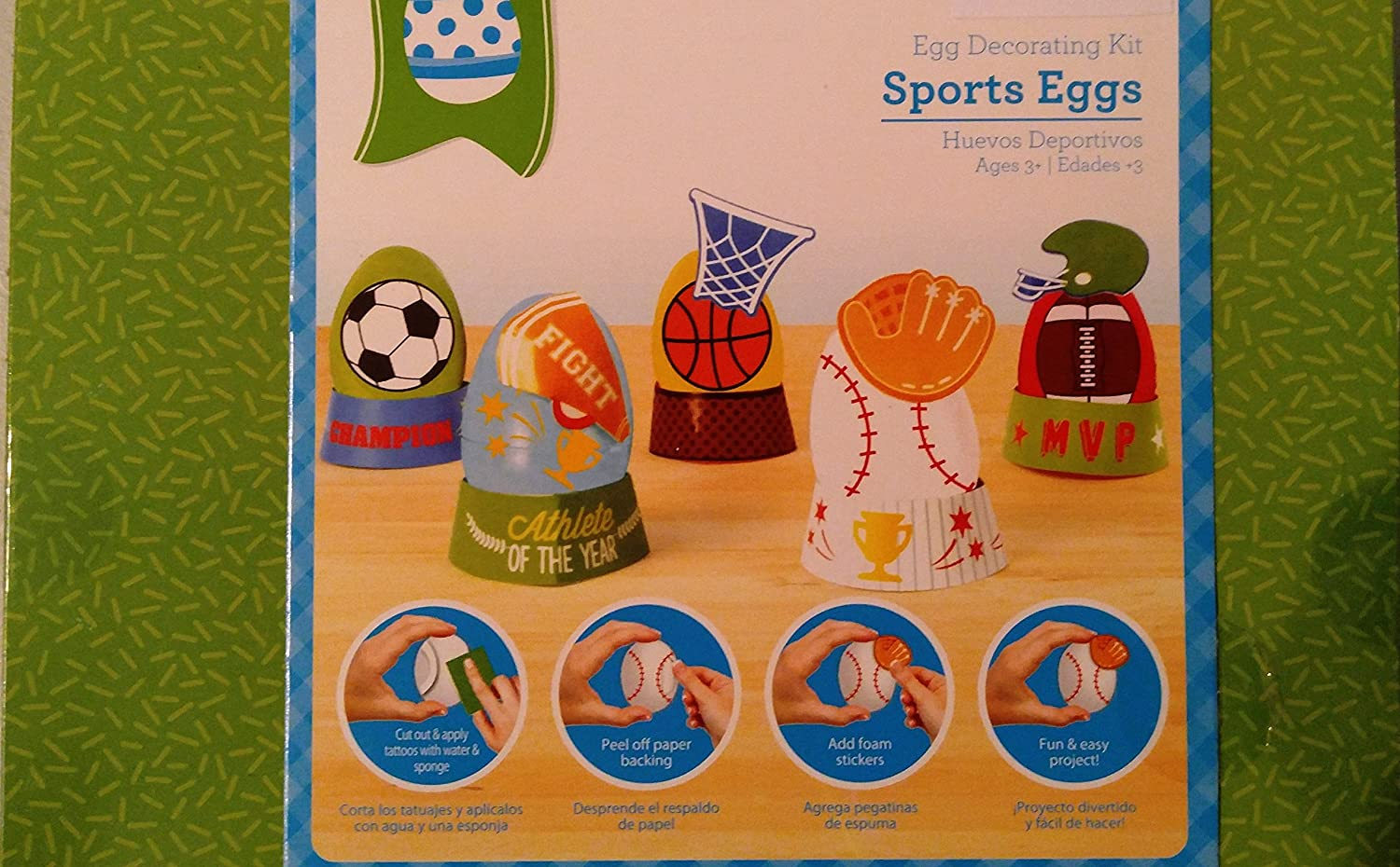 Amazon.com: Egg Decorating Easter Kit Sports Eggs Tattoo Sheets And Self Adhesive Foam Pouch out Sheet: Toys & Games