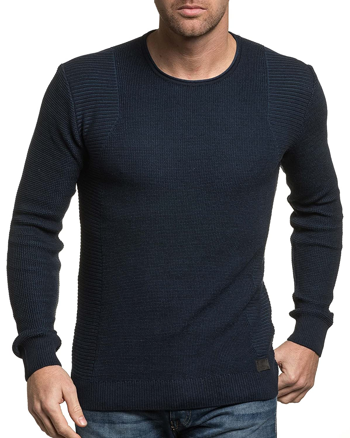 BLZ jeans - tight blue sweater man navy