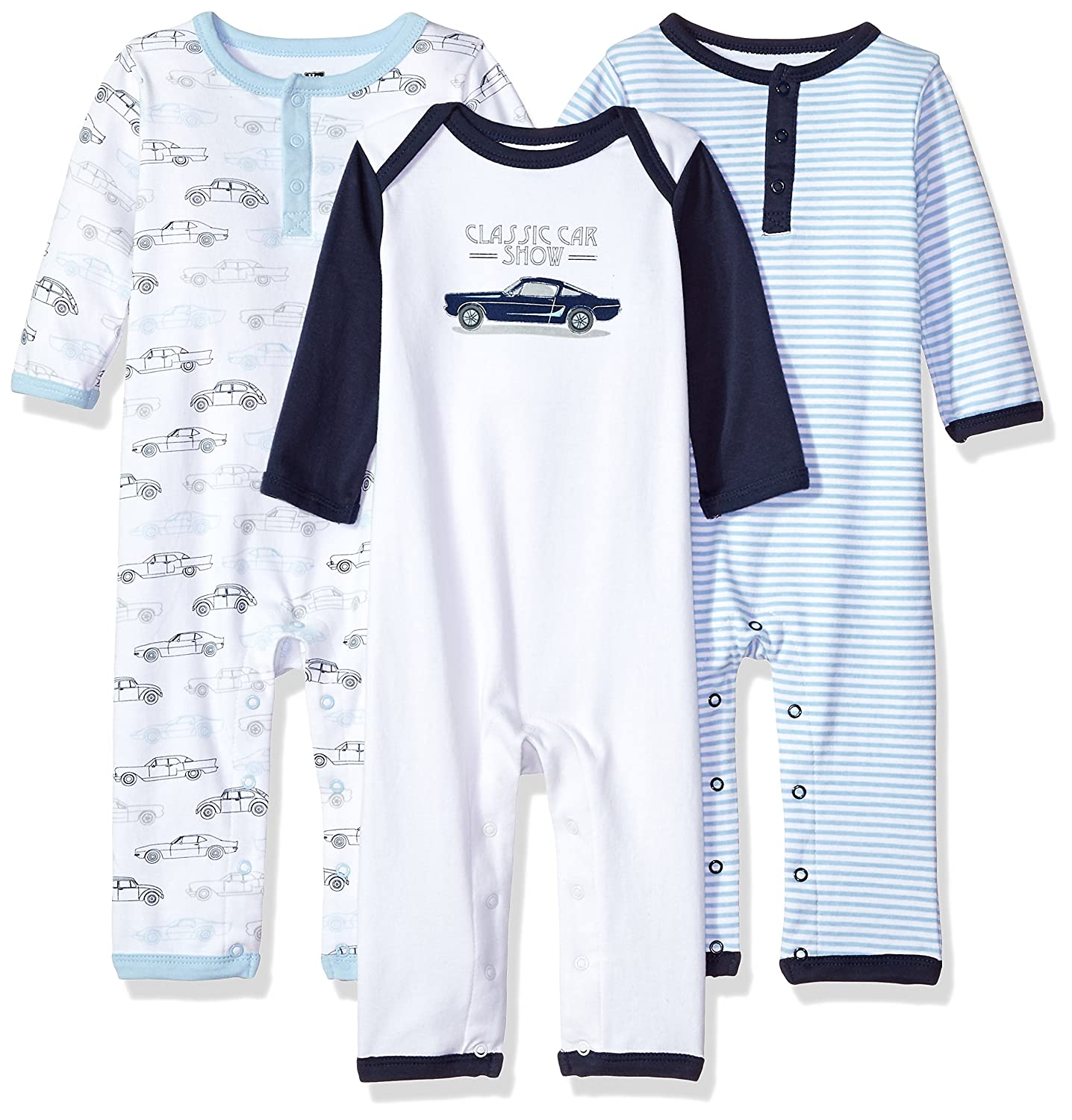Hudson Baby Unisex-Baby Baby Cotton Union Suit, 3 Pack 10151287