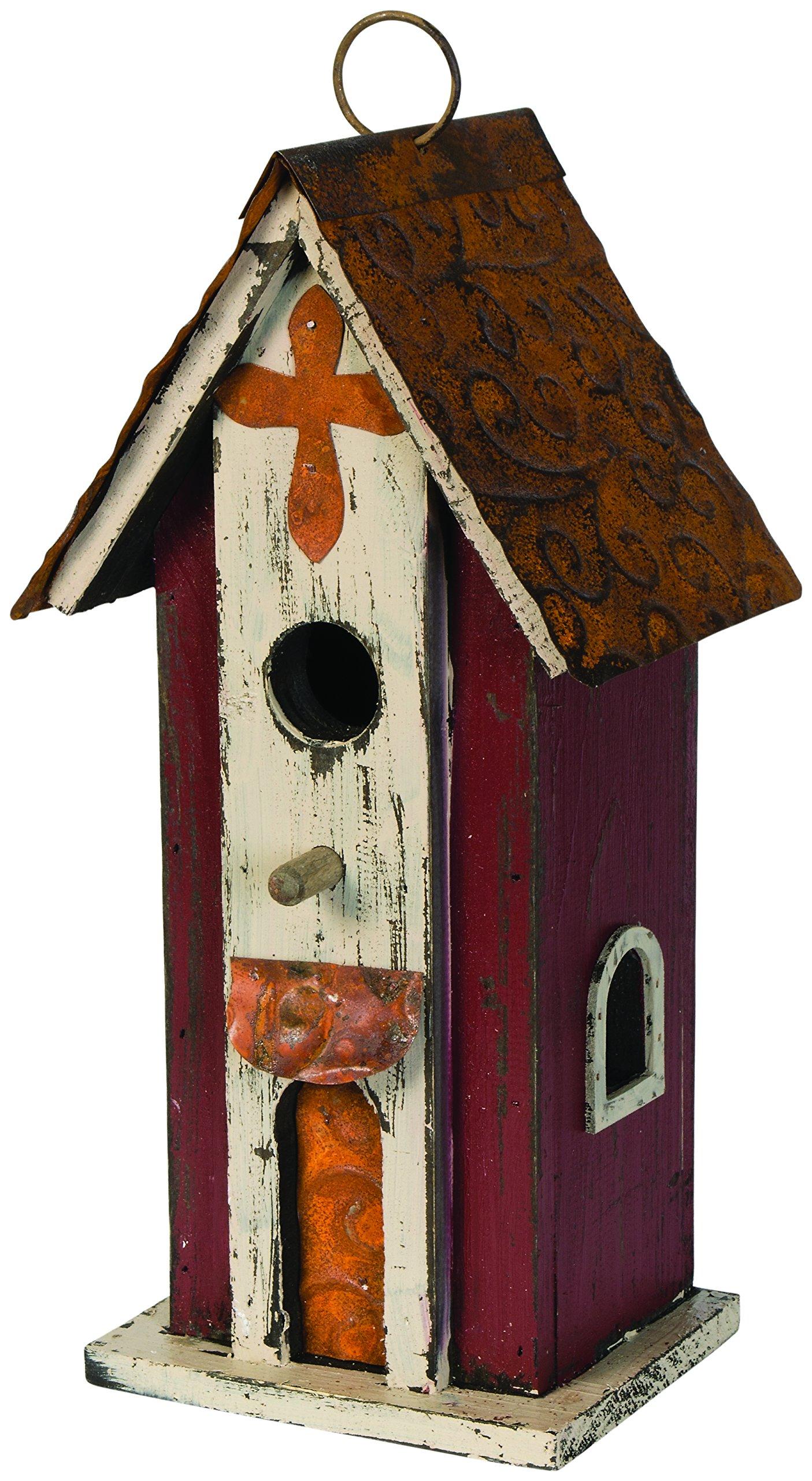 Carson Home Accents Tall Rustic Church Birdhouse