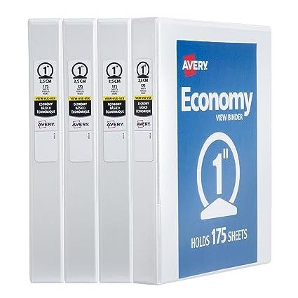 amazon com avery economy view binder 1 round rings 175 sheet