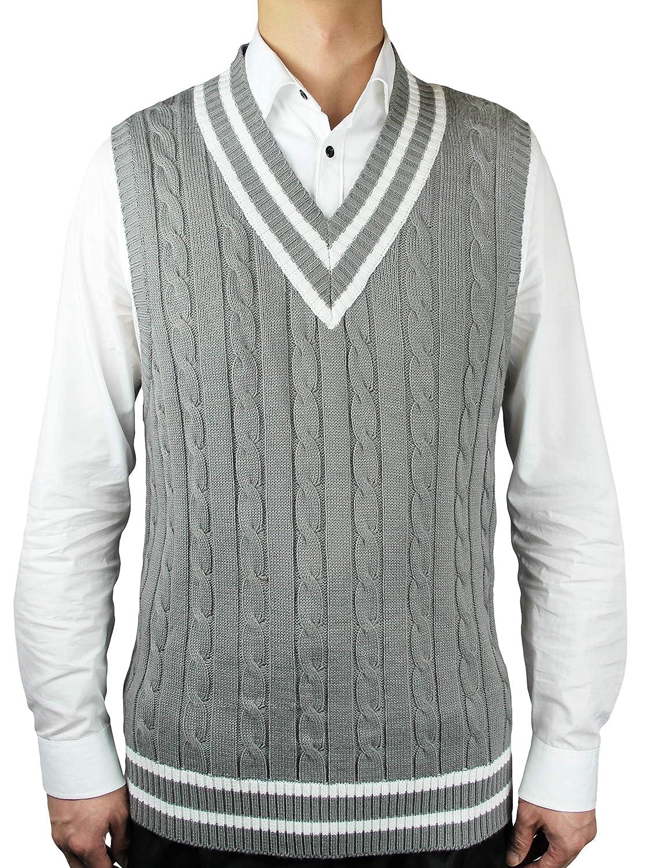 Blue Ocean Cricket Cable Sweater Vest