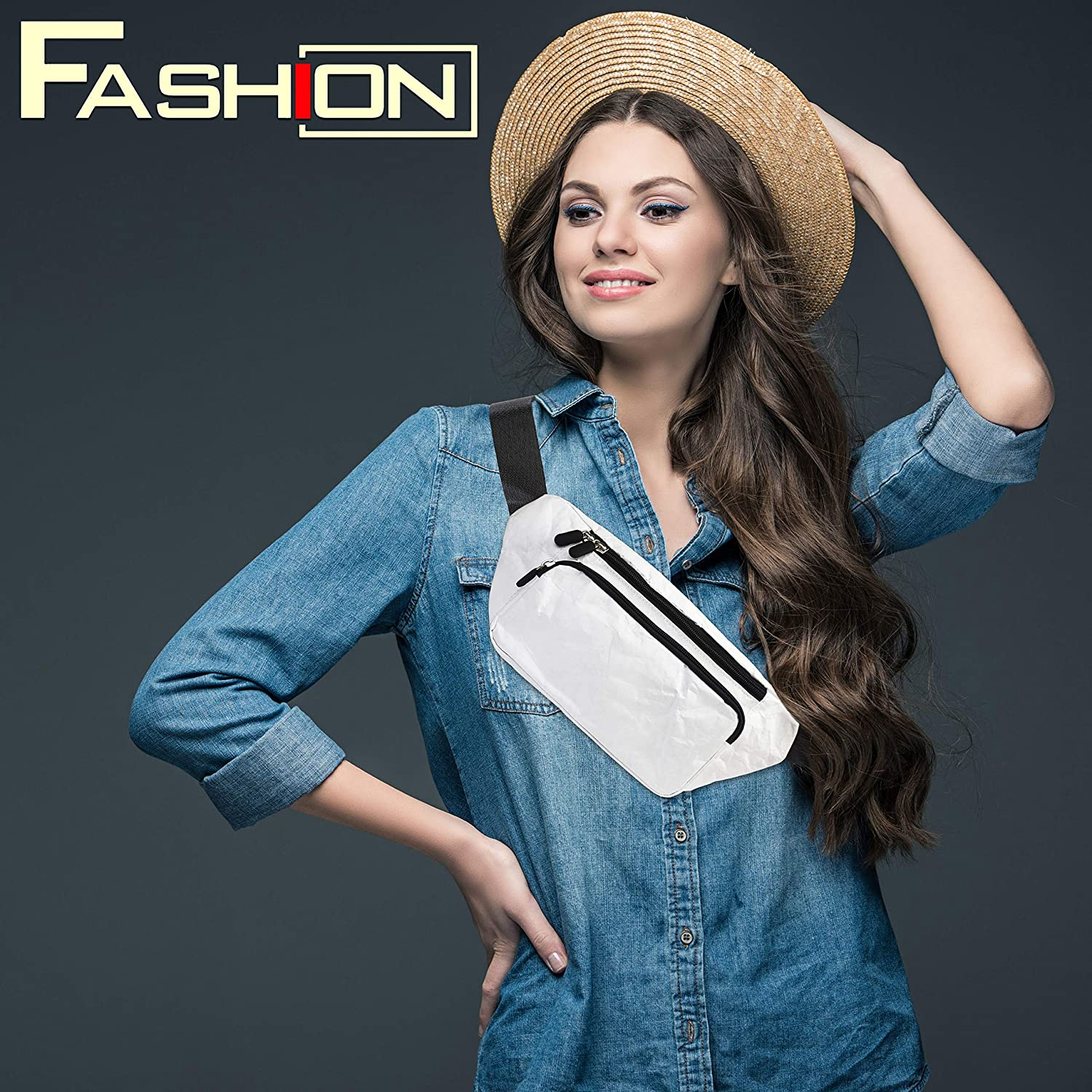Fanny Pack For Women Men Fashion Waist Pack Bag Casual Lightweight Water Resistant White