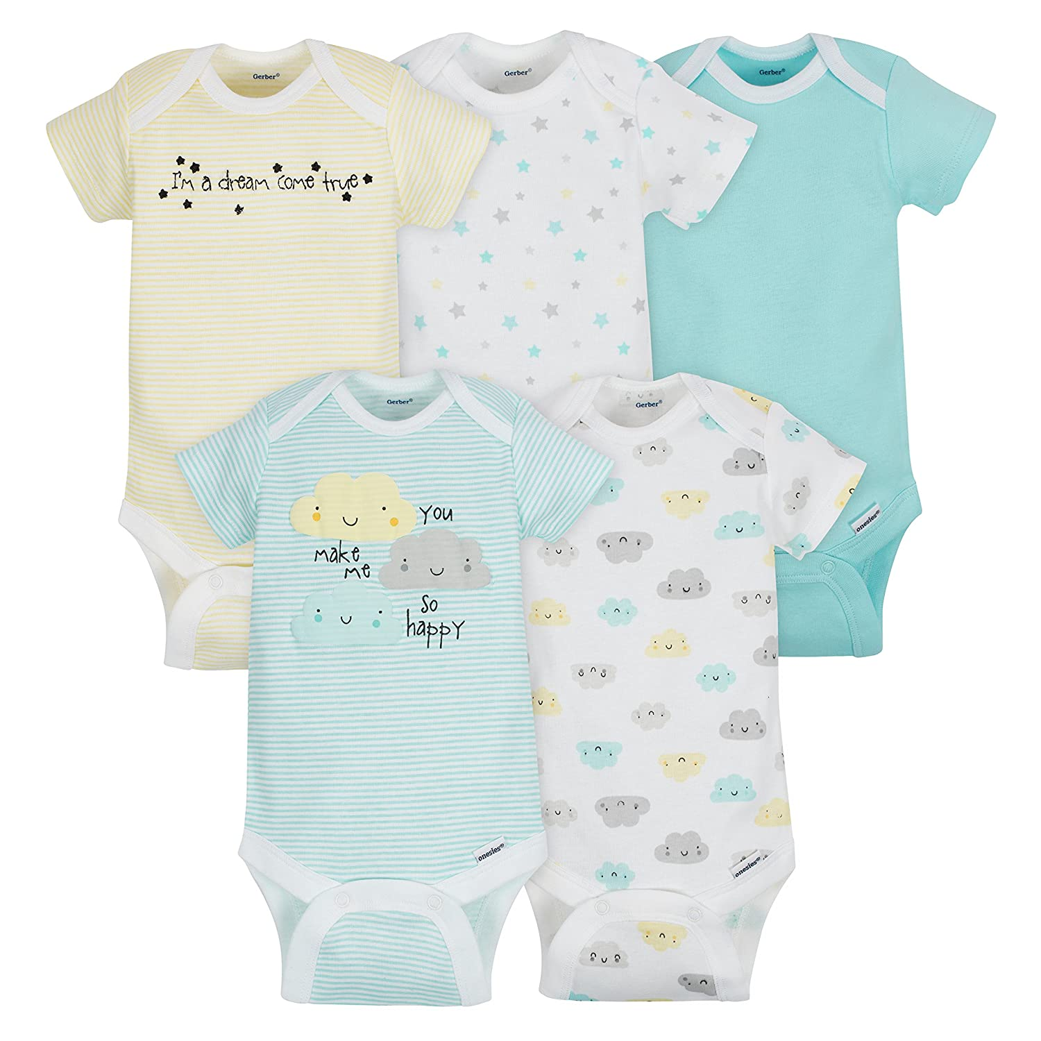 ee0bf933e5 Amazon.com  Gerber Baby 5 Pack Onesies  Clothing