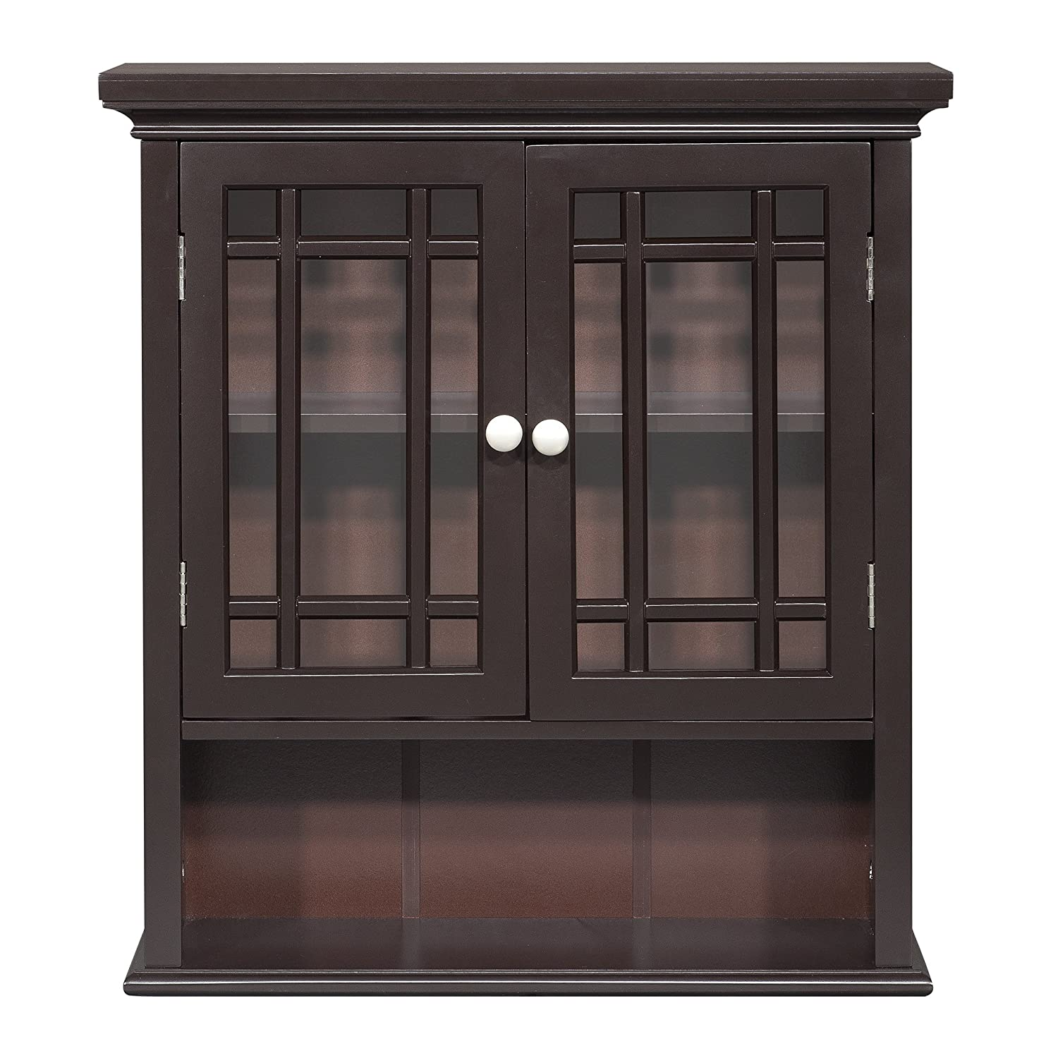 Amazon.com Elegant Home Fashion Neal Wall Cabinet with 2-Door and Shelf Kitchen u0026 Dining  sc 1 st  Amazon.com & Amazon.com: Elegant Home Fashion Neal Wall Cabinet with 2-Door and ...