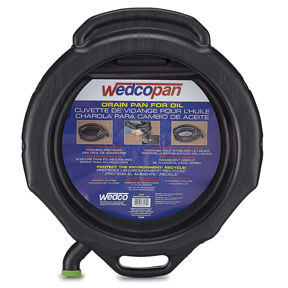 Wedco 83230 Round Drain Pan-Open, 16 quart