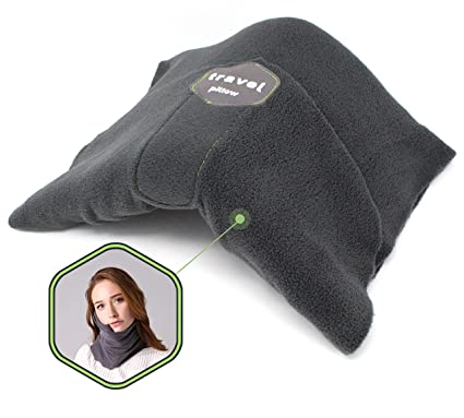 Cojin Scarf Travel Pillow for Airplane Neck Support - Wrap-Around Scarf, Machine Washable & Portable - Adjustable, Ultralight & Soft, for Long Haul ...