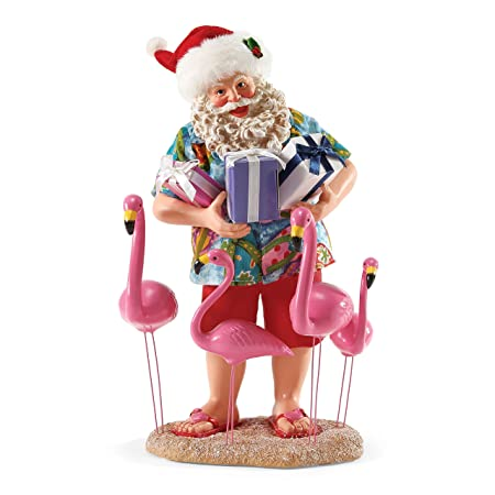 Department 56 Possible Dreams Christmas Holiday Flocking Santa Figurine