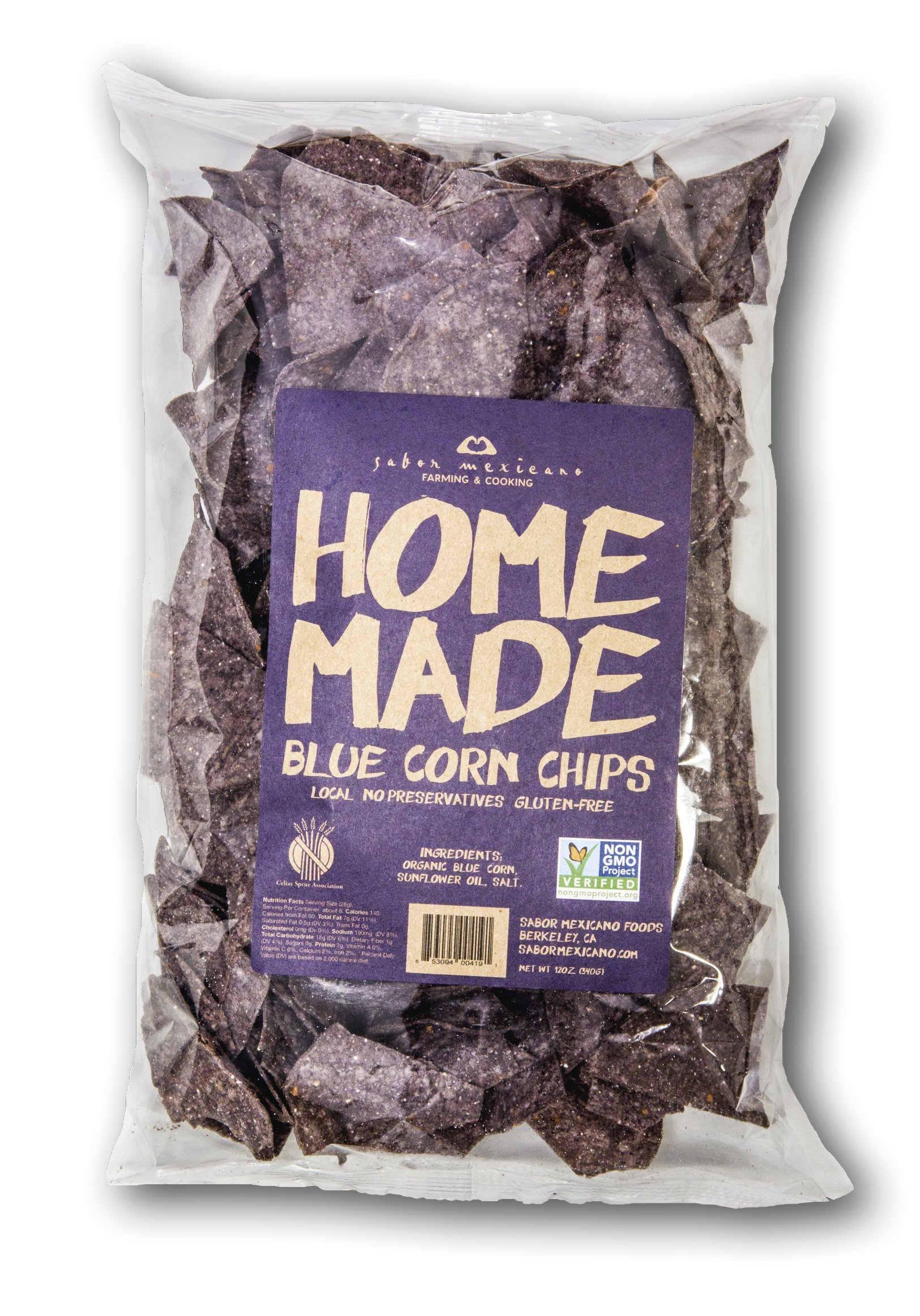 Home Made Blue Corn Chips