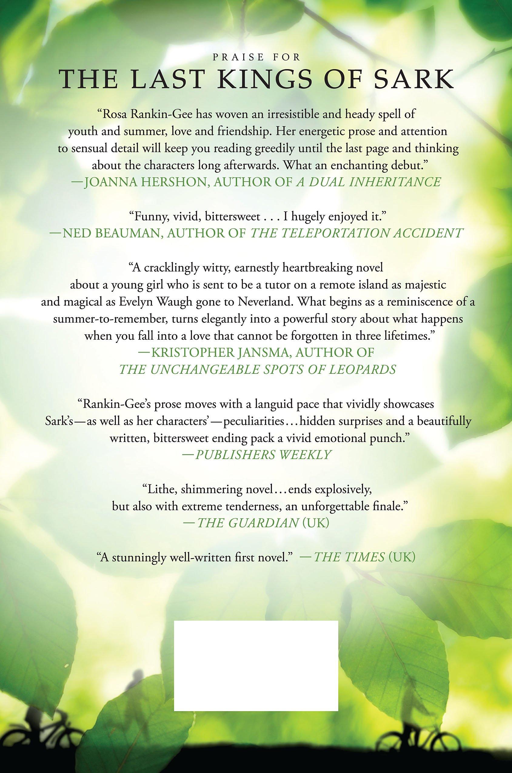 The Last Kings Of Sark: A Novel: Rosa Rankingee: 9781250045355:  Amazon: Books