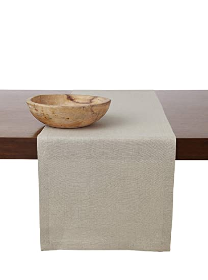 43850a360b3dc Solino Home 100% Pure Linen Table Runner – 14 x 90 Inch, Tesoro Runner,  Natural and Handcrafted from European Flax – Natural