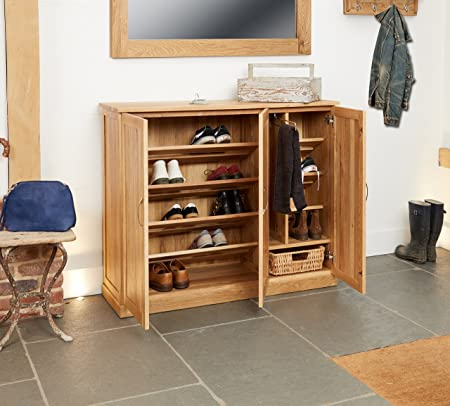 mobel solid oak console. Baumhaus Mobel Oak Extra Large Shoe Cupboard Solid Console M