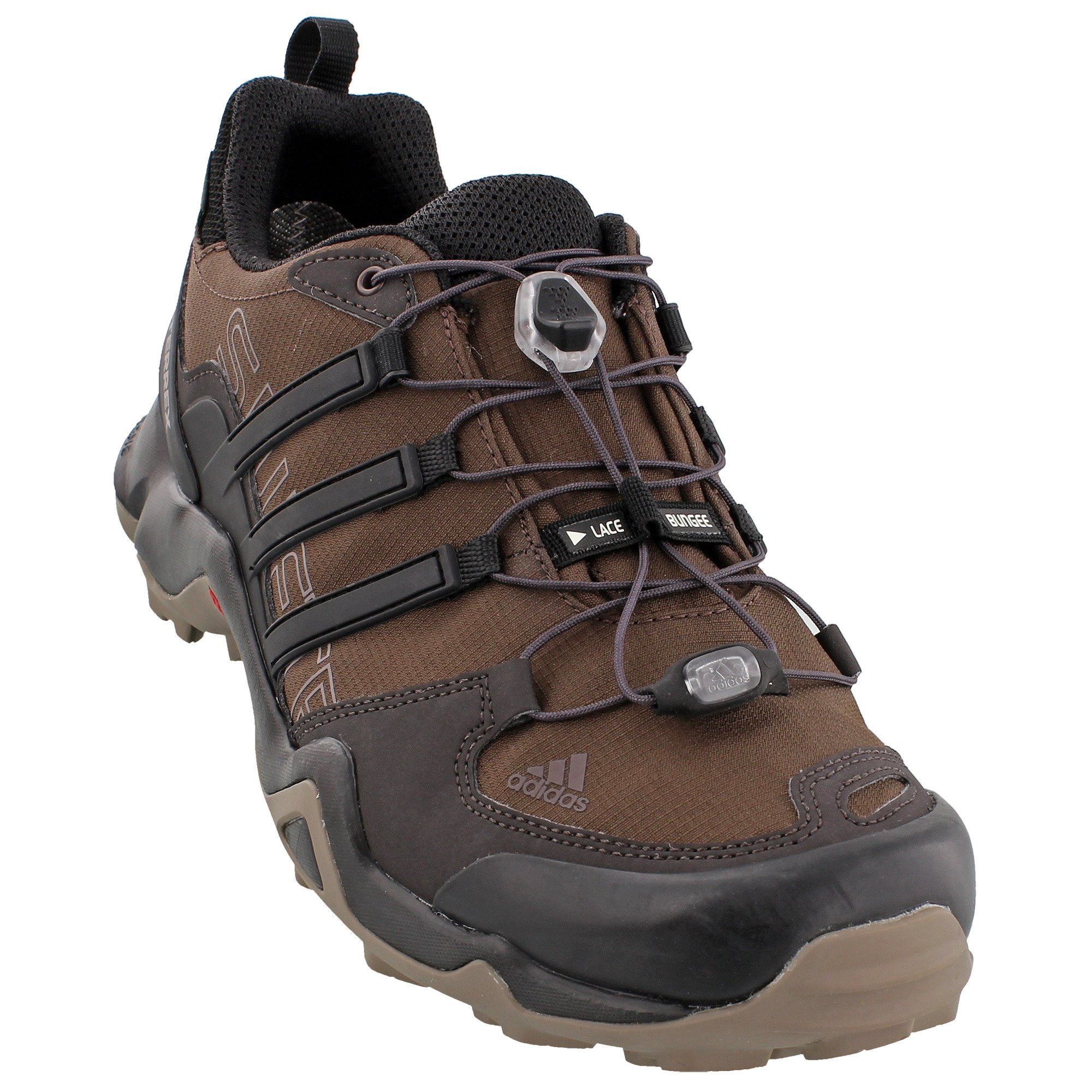 adidas outdoor Men's Terrex Swift R GTX Brown/Black/Simple Brown Hiking Shoes - 9.5 D(M) US by adidas
