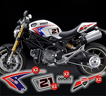 Stickers Decal For Ducati Monster Replica Troy Bayliss Amazon Co Uk