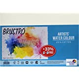 Brustro Artists' Watercolour Paper 300 GSM A5- 25% cotton, CP(Pack of 18+6 free Sheets)