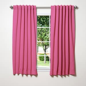 "Best Home Fashion Closeout Blackout Curtains (52"" W x 63"" L, SO Pink)"