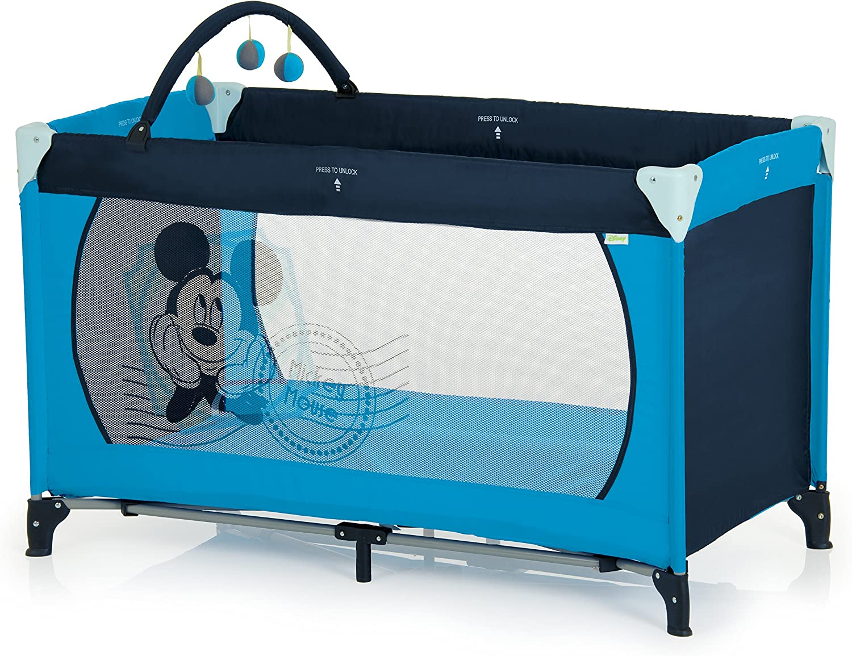 Cuna de viaje 60 x 120 cm V-Mickey Blue II Hauck Dreamn Play