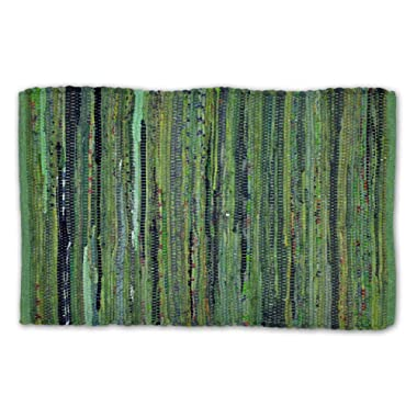 DII Contemporary Reversible Floor Rug For Bathroom, Living Room, Kitchen, or Laundry Room (20x31.5 ) - Olive Green (Color may vary)