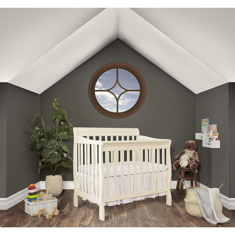 Dream On Me Aden Convertible 4-in-1 Mini Crib Grey