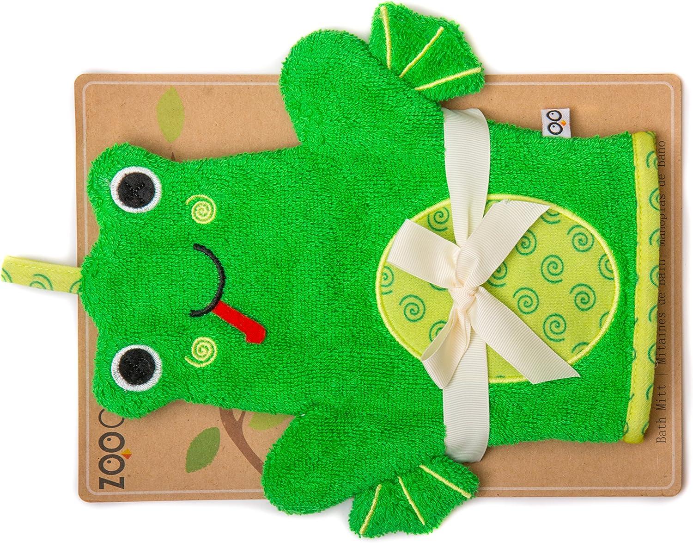 Zoocchini manopla de baño marioneta para niños 100% algodón verde ...
