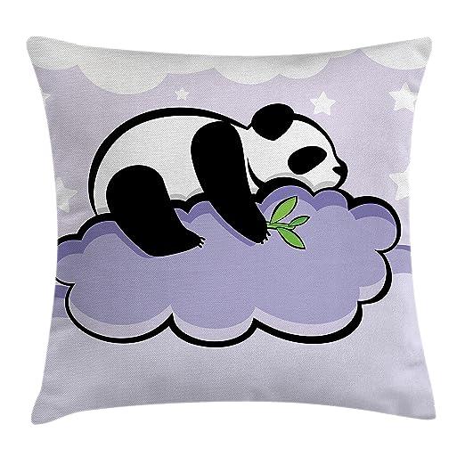 Panda manta almohada Funda de cojín por Ambesonne, oso panda ...