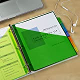 Avery 8-Tab Plastic Pocket Dividers for Home Office or Homeschool Supplies, Insertable Multicolor, 3 Sets (11907)